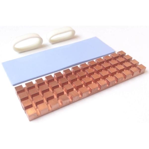 NVMe copper heatsink