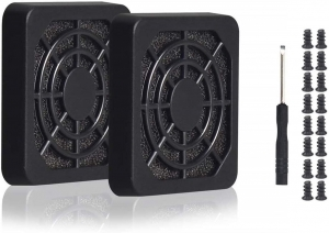 4pcs 50mm Fan Filter Grill Black with Screws