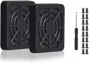 4pcs 60mm Fan Filter Grill Black with Screws