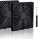 4pcs 80mm Fan Filter Grill Black with Screws