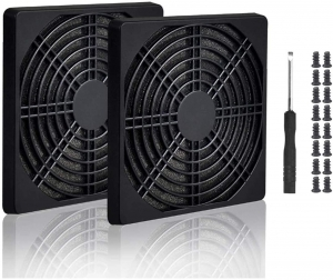 4pcs 92mm Fan Filter Grill Black with Screws