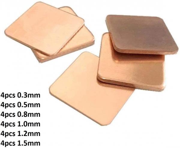 6 Sizes Heatsink Copper